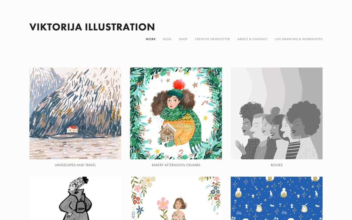 Viktorija portfolio website