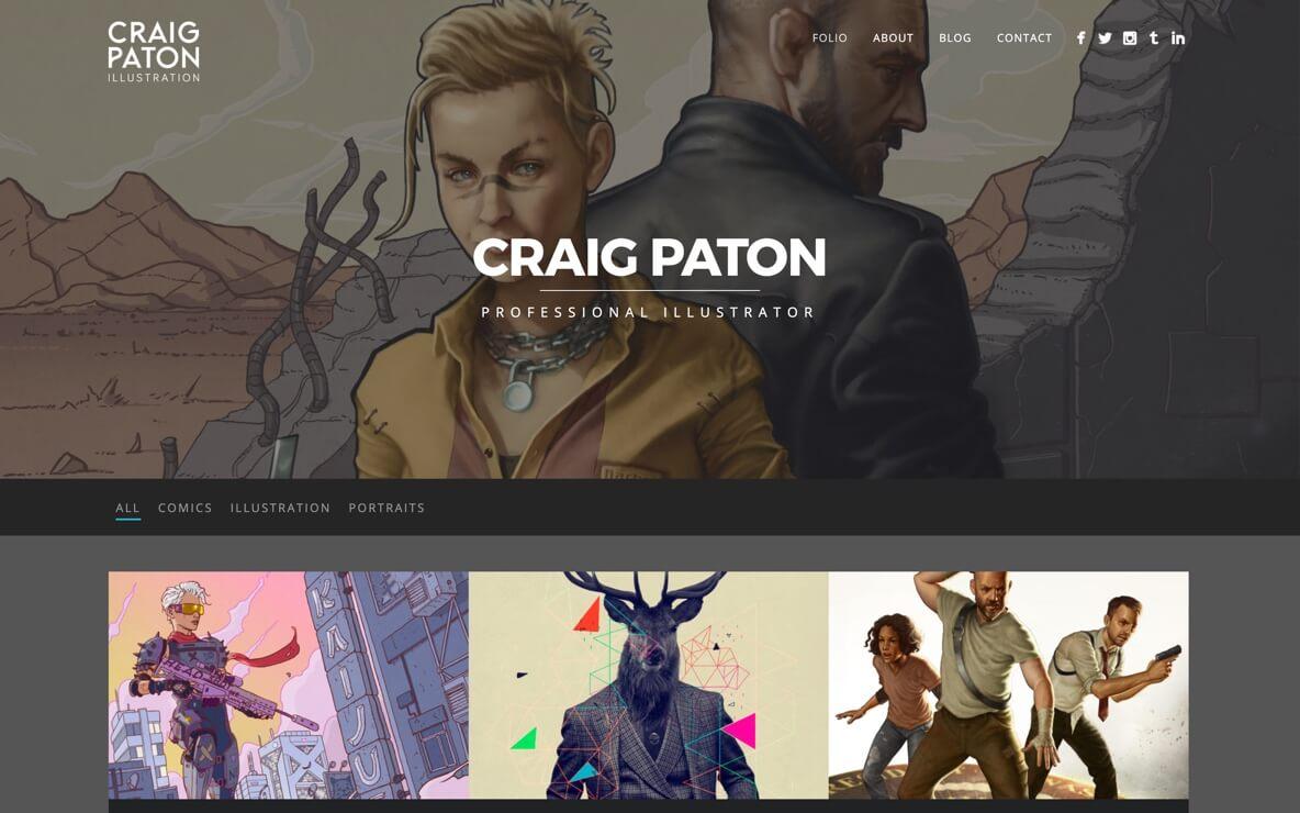 Craig Paton portfolio website