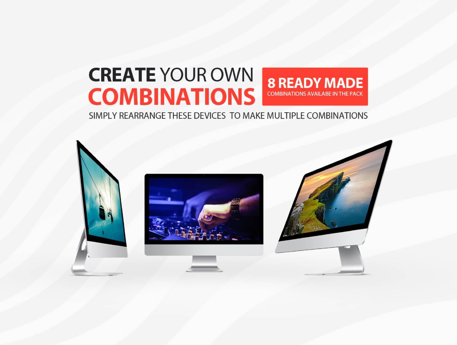 iMac mockup combinations