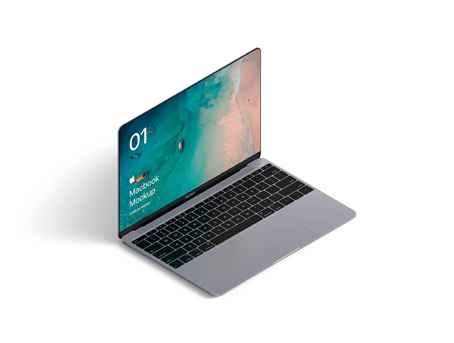 Isometric macbooks PSD