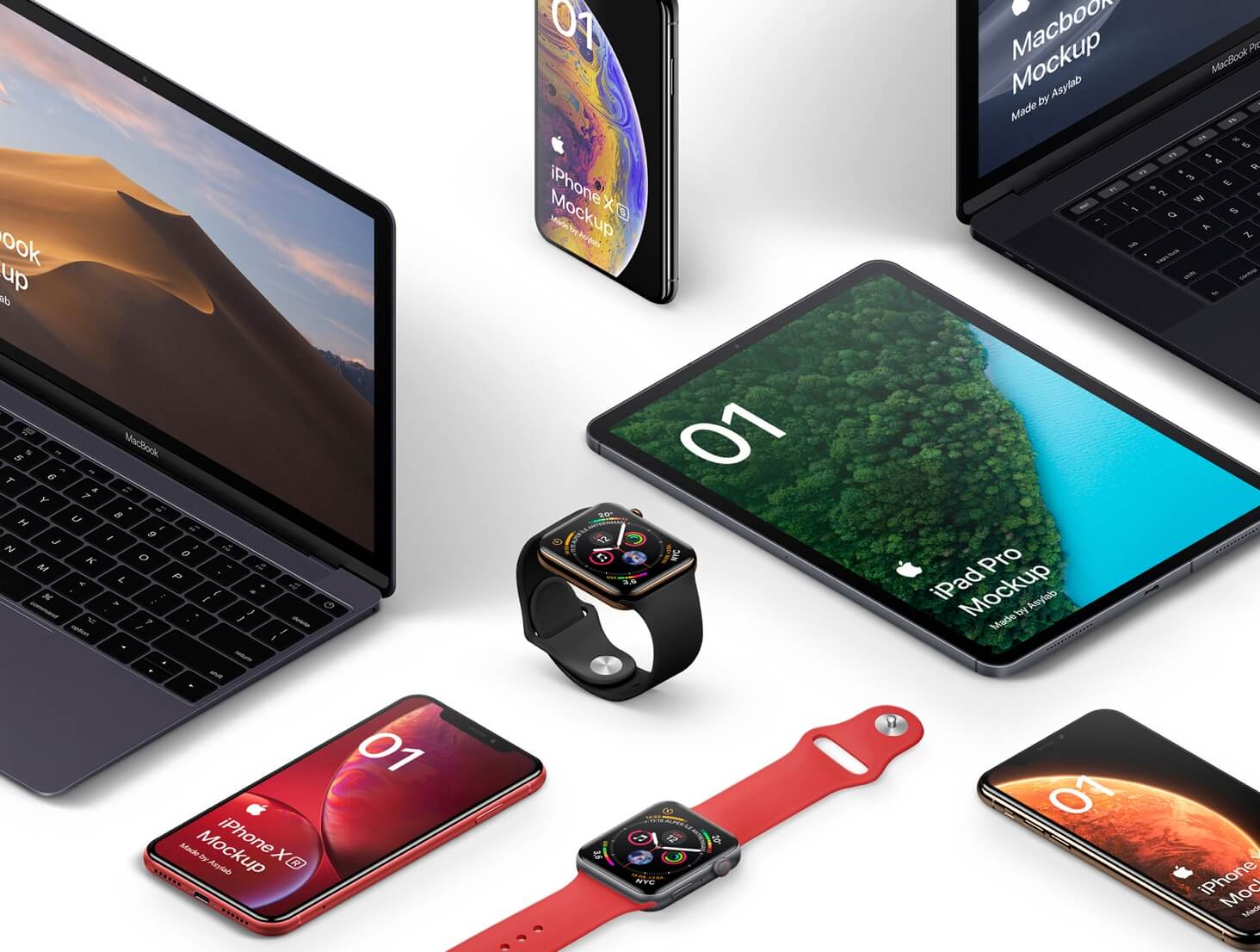 Isometric Apple devices