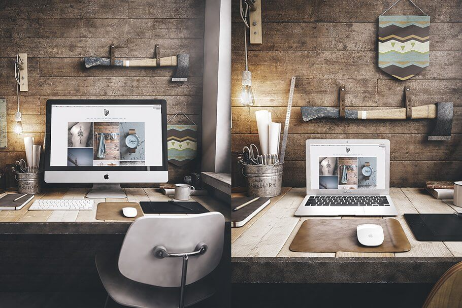 Mac workspace scene