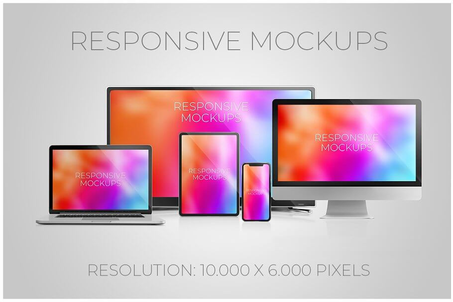 Multidevice PSD mockups