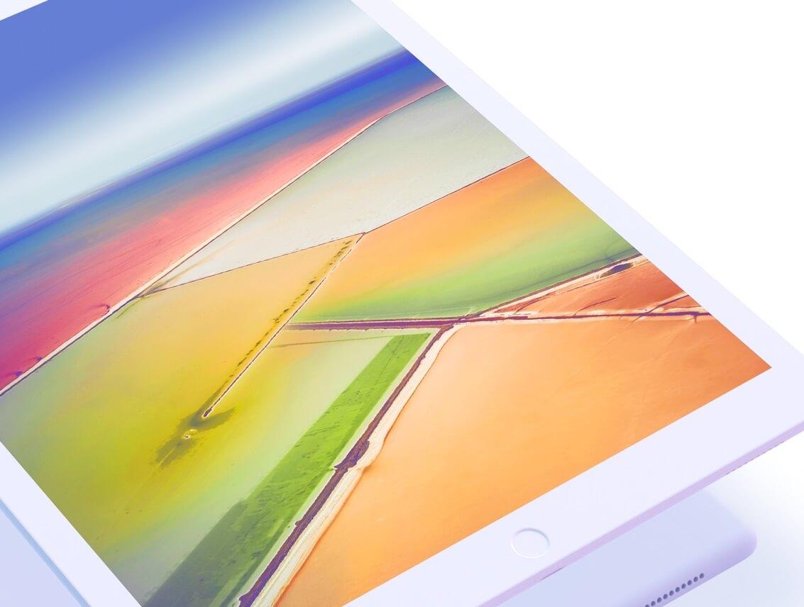 iPad mockup clay