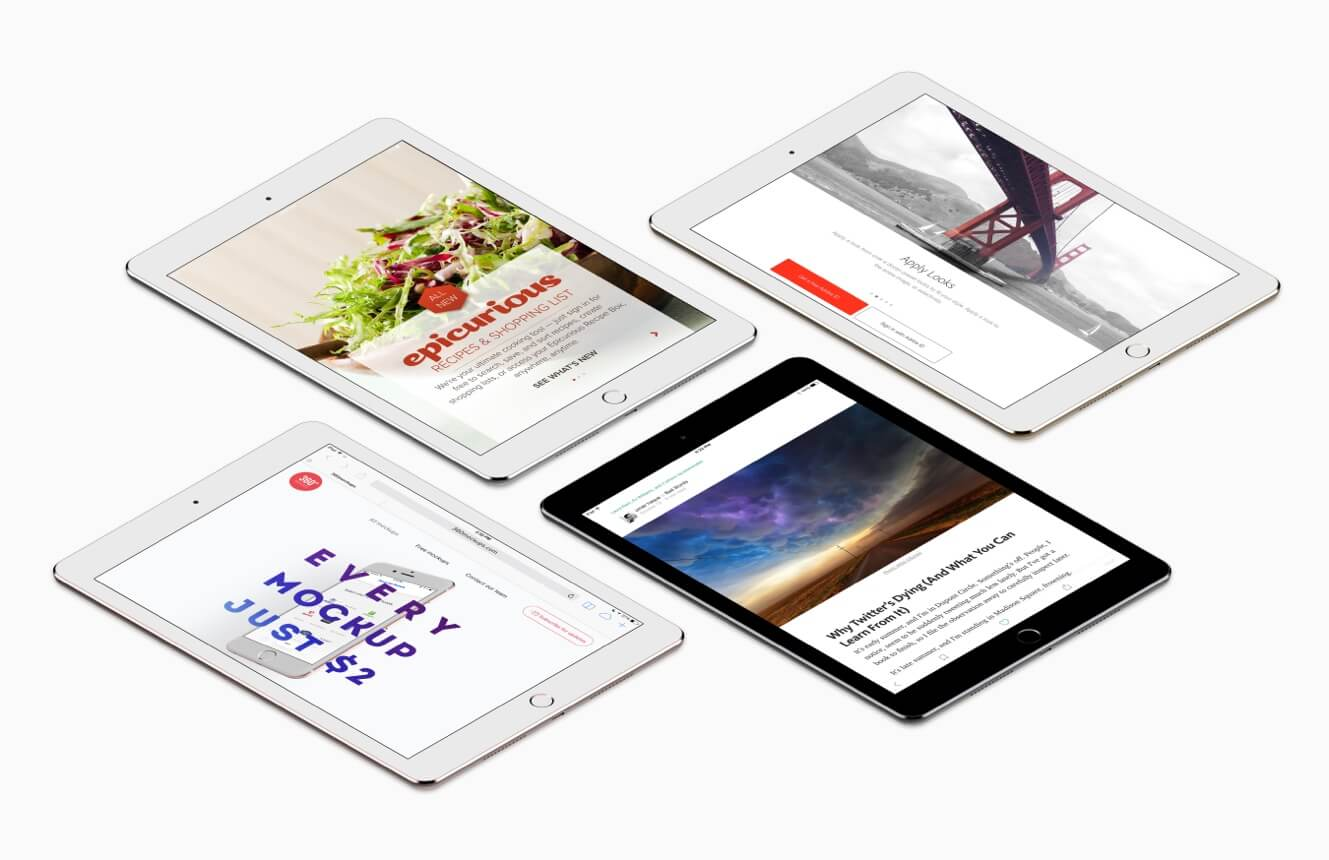 Perspective iPad mockups