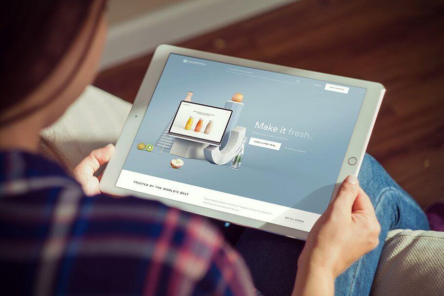 Classy iPad mockup scene