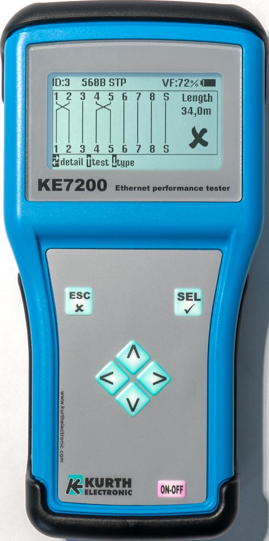 Kurth Electronic KE7200 Ethernet Performance Tester