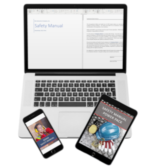 safety manual images on laptop phone and tablet