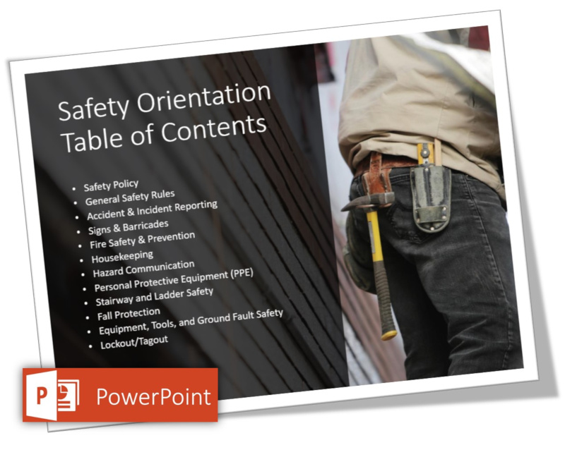 safety orientation slide in powerpoint