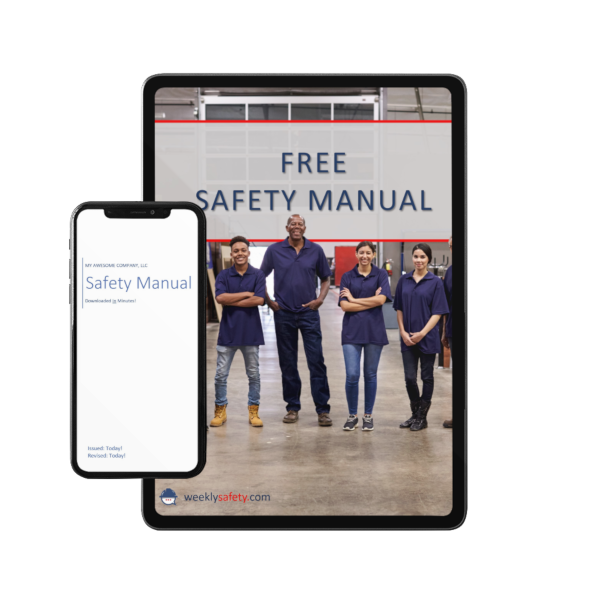 free safety manual image on a phone and tablet device