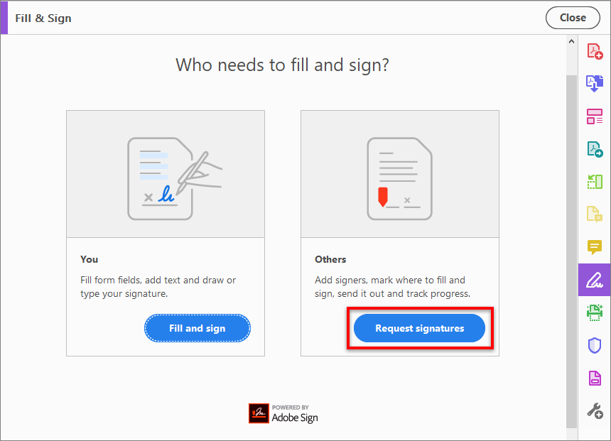 Managing and trackings documents in Adobe Sign