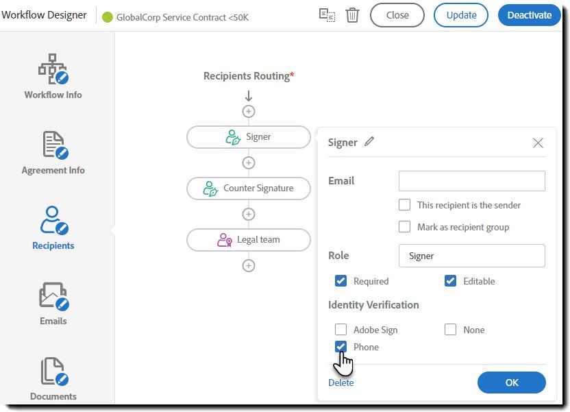Adobe Sign Workflows