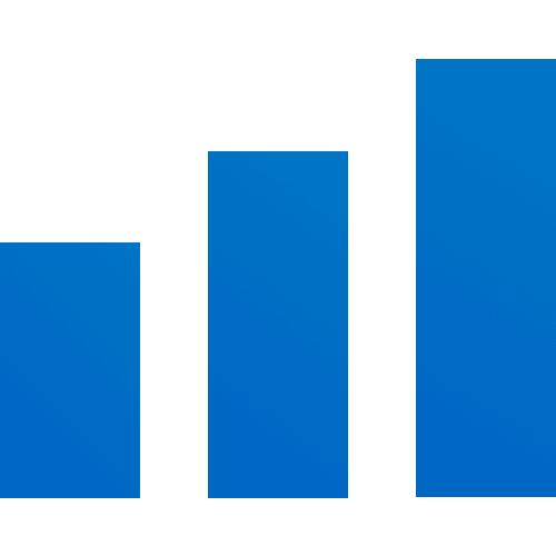 bar chart blue analytics