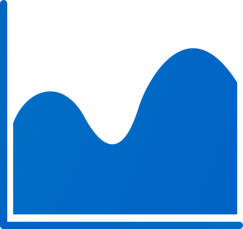 wave chart blue analytics