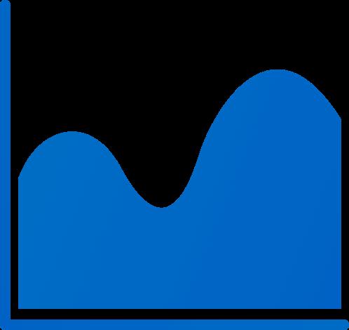 wave chart blue analytics