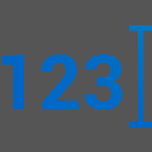 Number Metrics Icon Blue