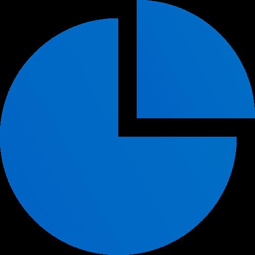 pi chart blue analytics