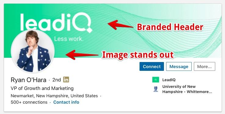 Marketing professional LinkedIn Profile Example