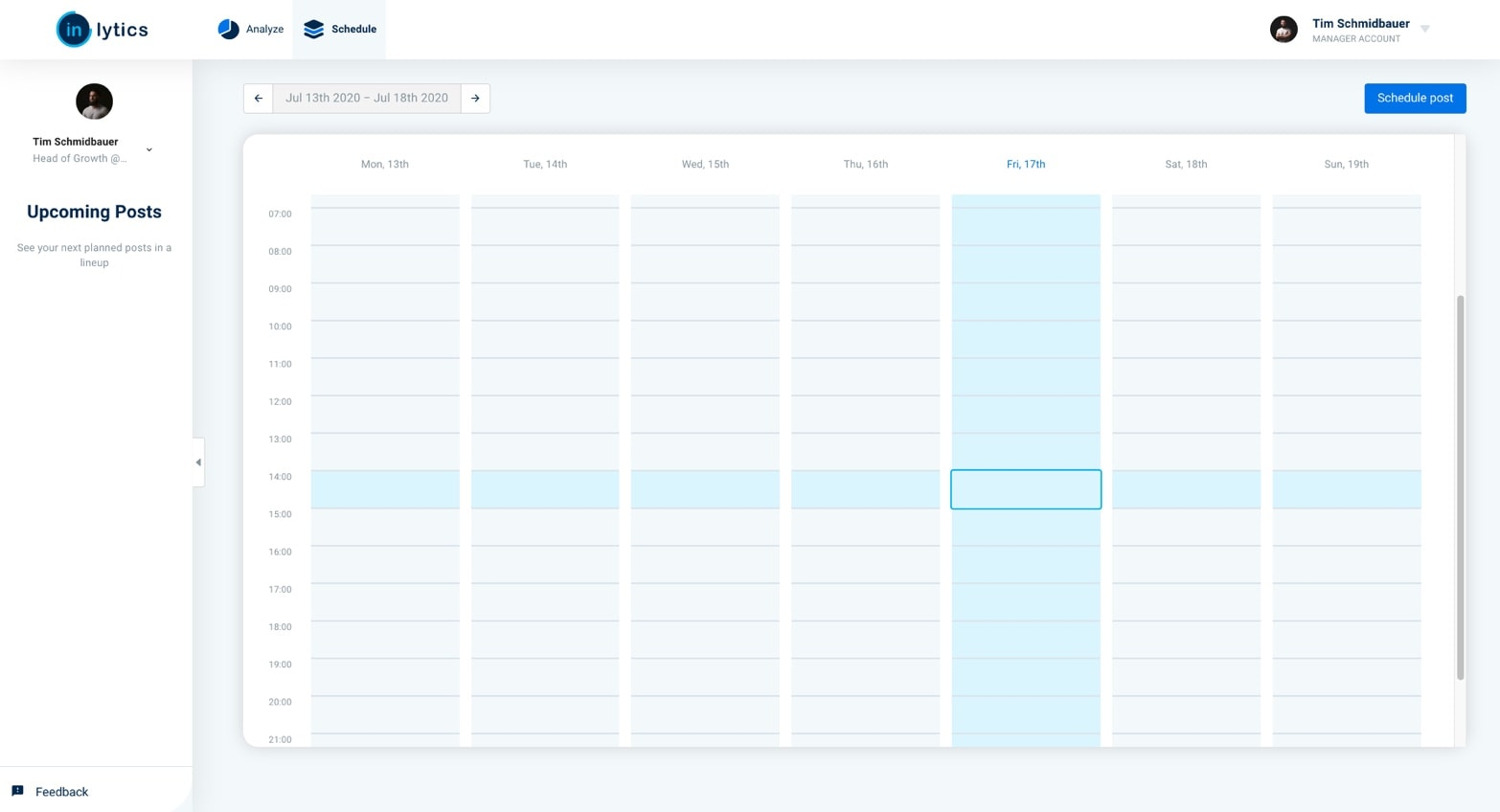 LinkedIn Scheduling tool for personal profiles