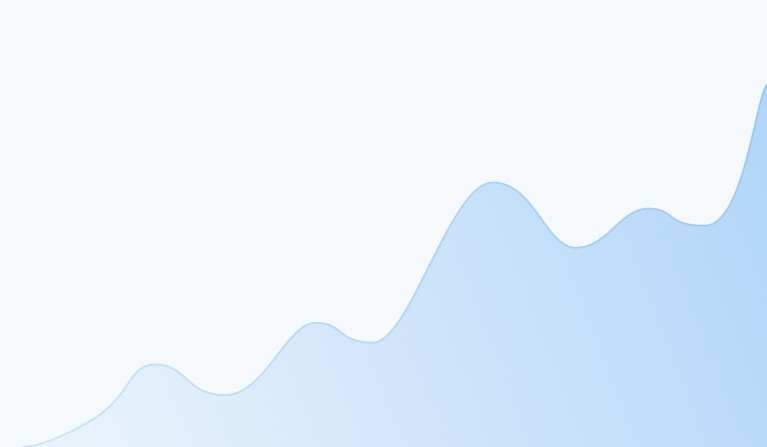 Illustration of a wave chart for a LinkedIn Analytics Tool