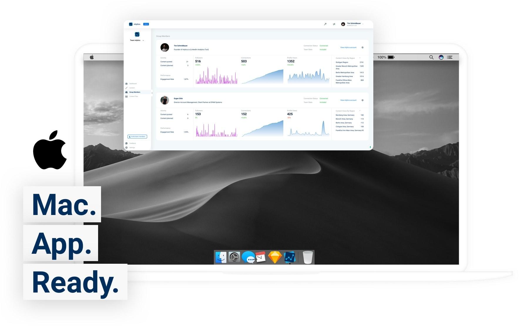 inlytics mac app image for your linkedin analytics tool on your desktop