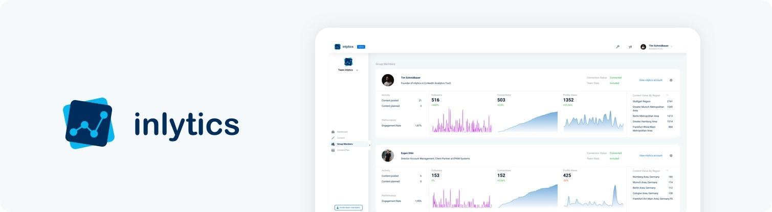 inlytics LinkedIn Analytics Tool Dashboard banner