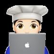 ivette emoji with macbook