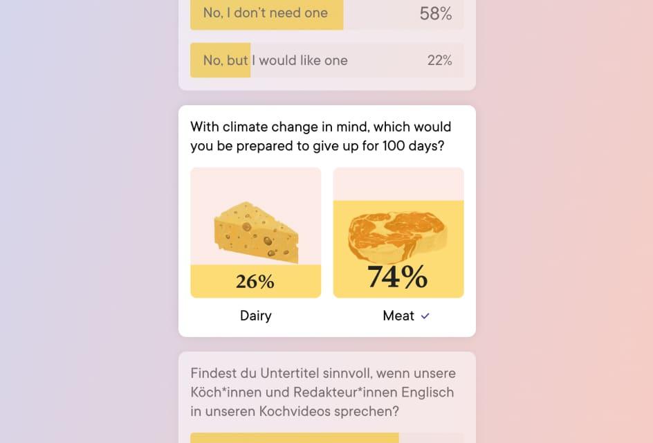 A screenshot of a poll