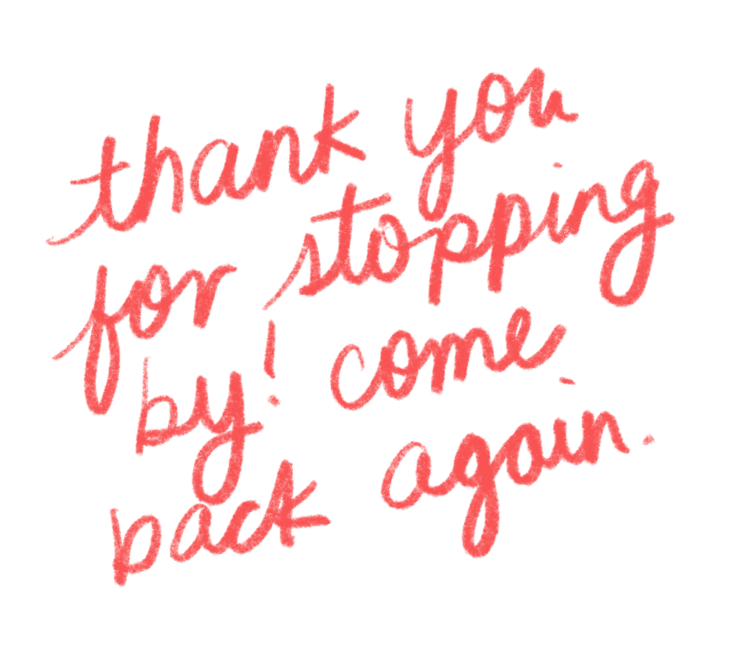 thanks for coming to my website!