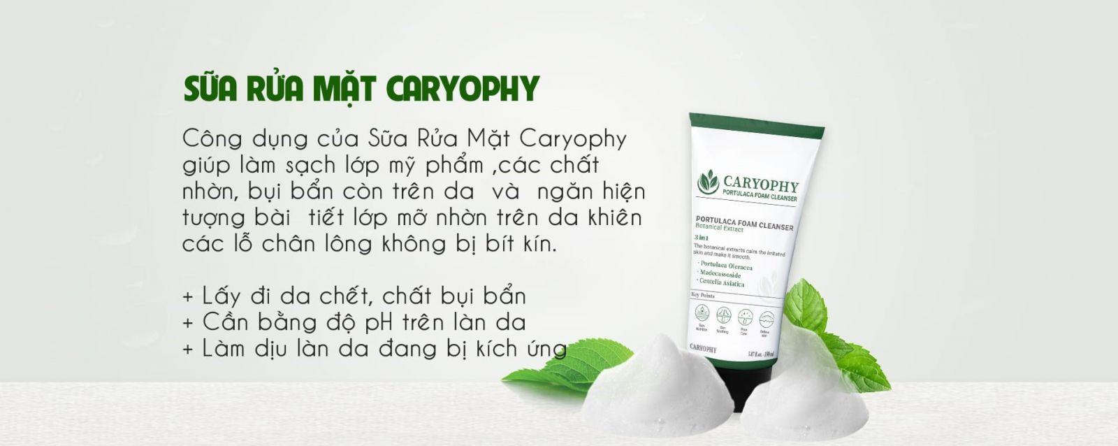 review sua rua mat Caryophy cong dung