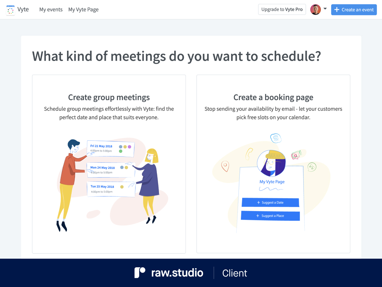 Vyte - Onboarding