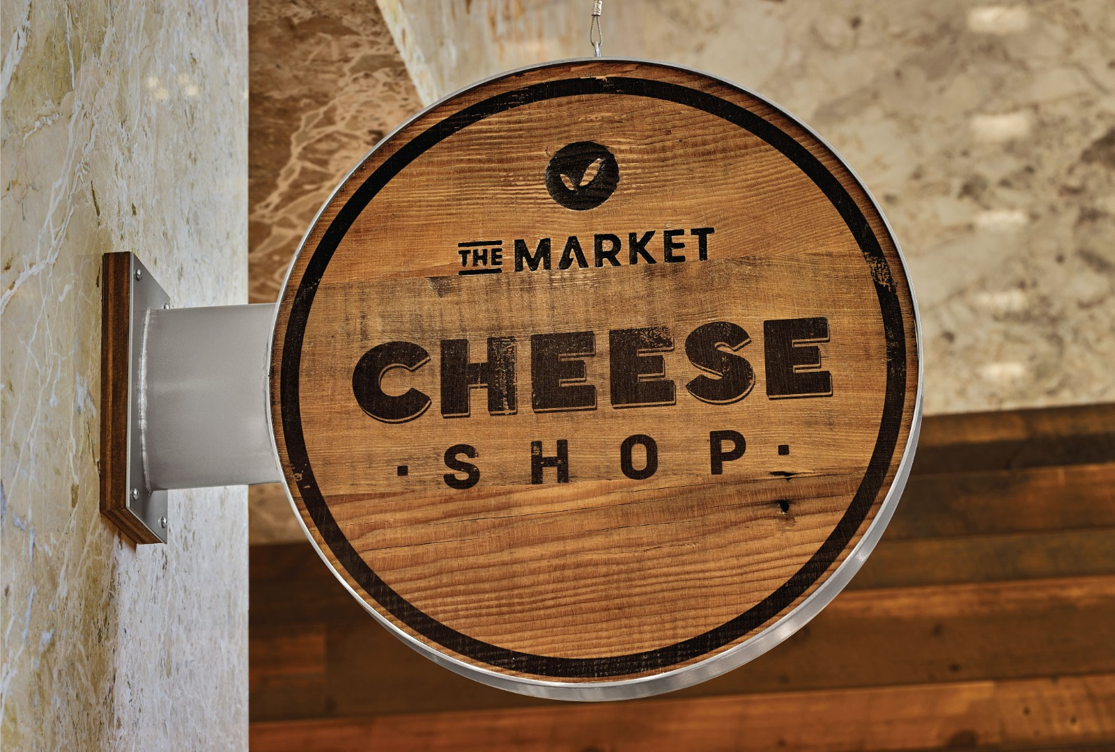 The Market Cheese Shop Blade Sign