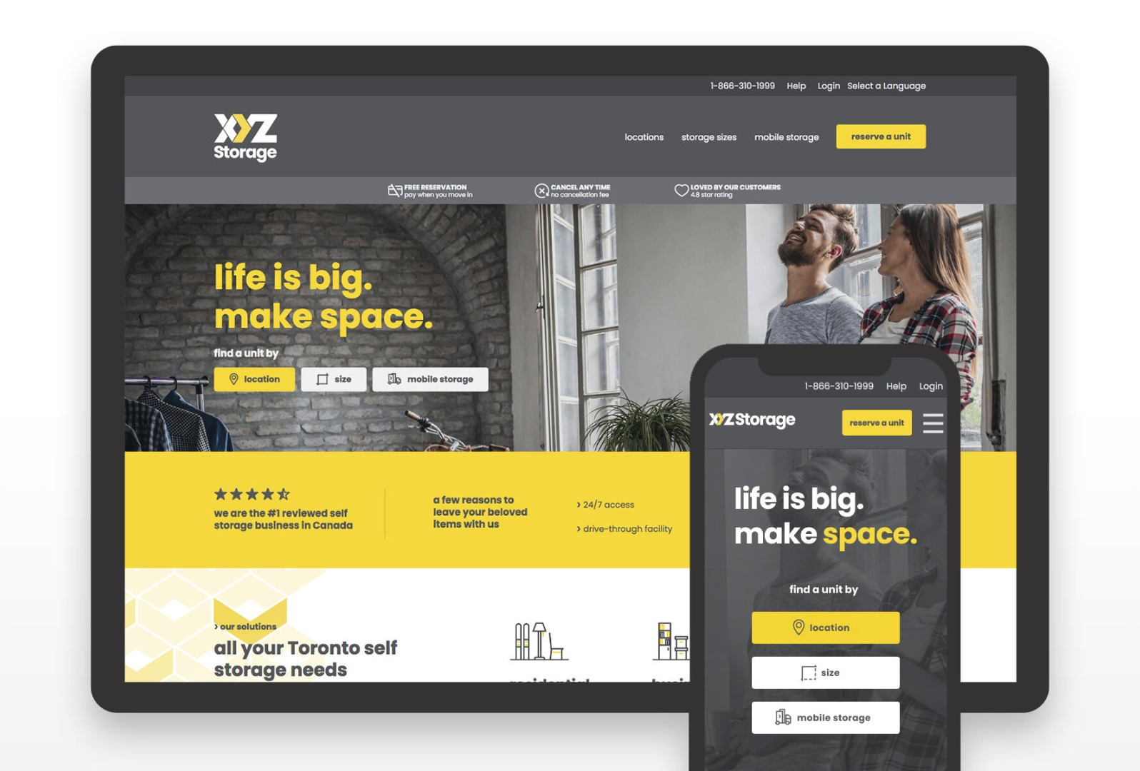 XYZ Storage Website