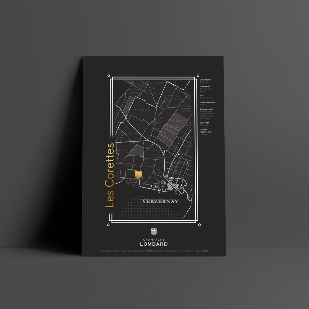 Image du projet d'affiche du Champagne Lombard