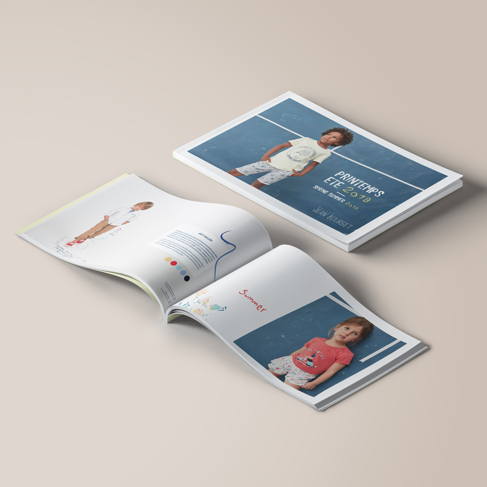 Image du projet de mise en page d'un lookbook pour Jean Bourget