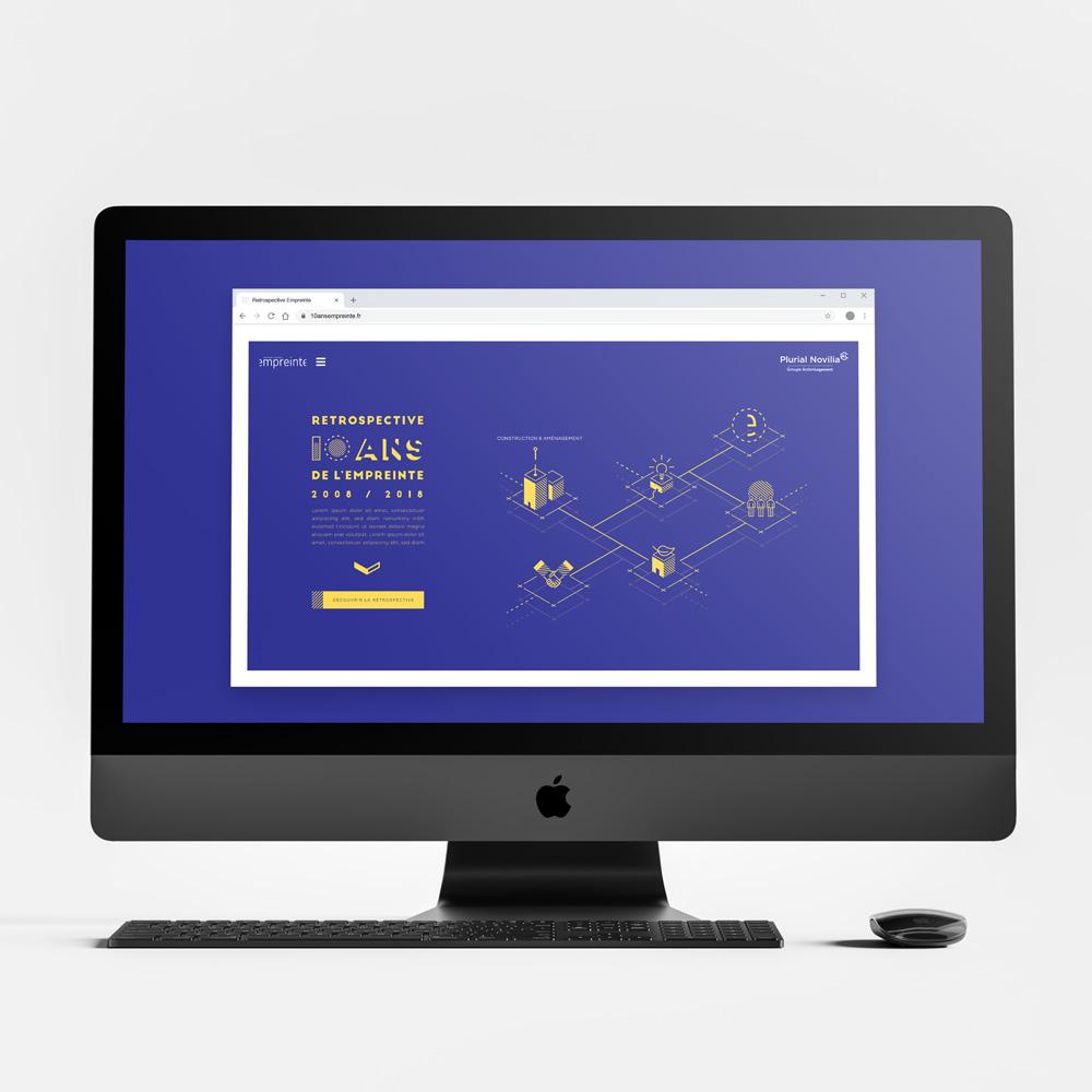 """Image du projet de site internet """"Empreinte"""" pour Plurial Novilia"""