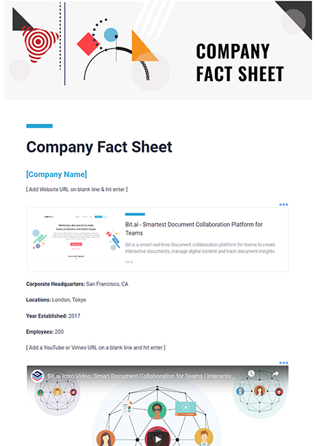 Company Fact Sheet