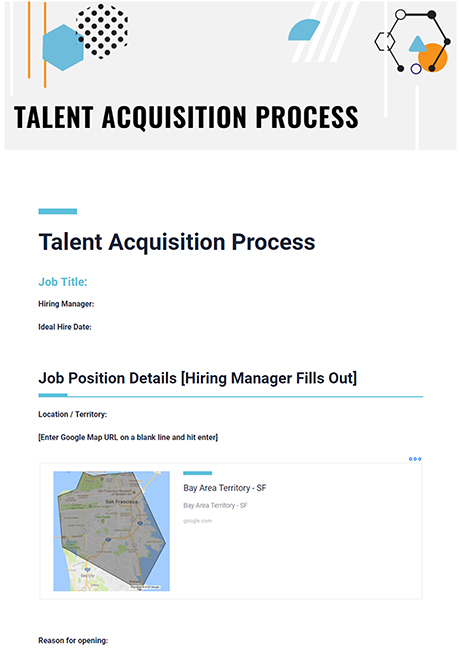 Talent Acquisition Template