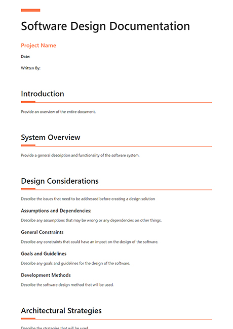 Software Design Document Template Bit Ai