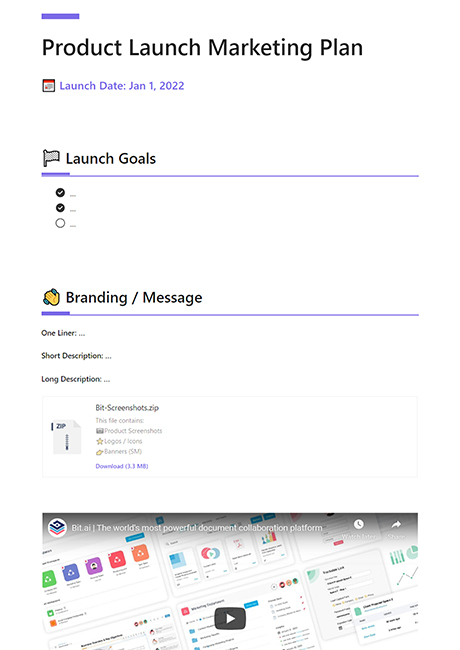 Product Launch Marketing Template