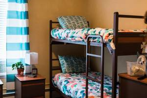 bunk beds in the City Mission's Women's Shelter