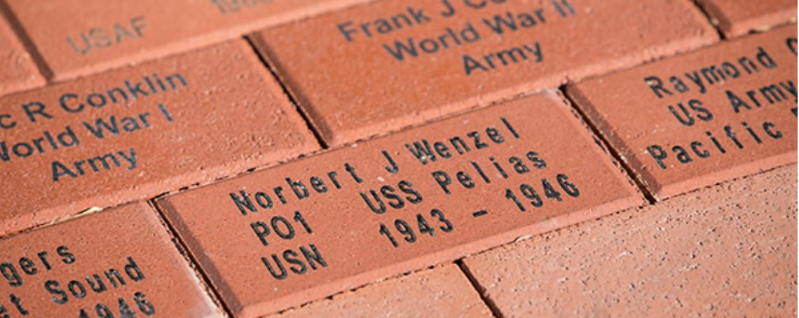 closeup of the wall of honor