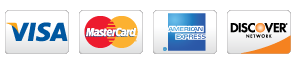 combined image of credit cards: Visa; Mastercard; American Express; Discover