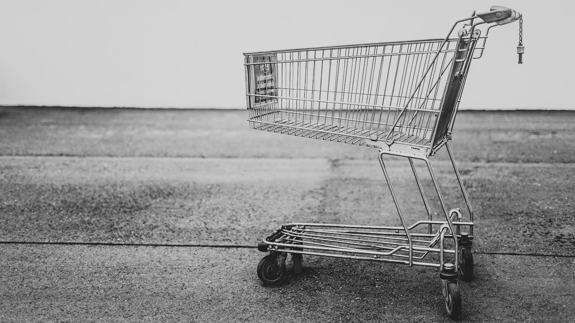 lone shopping basket