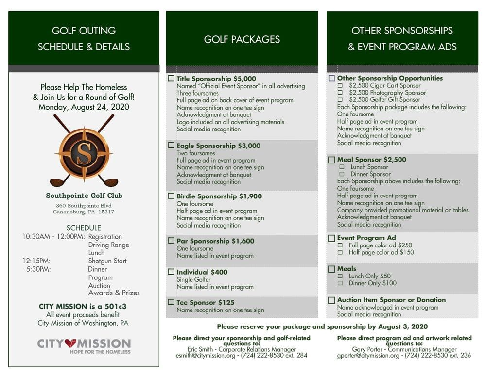 golf packages infographic