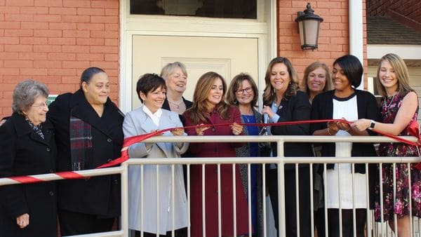 ribbon-cutting ceremony for the Women with Children Shelter