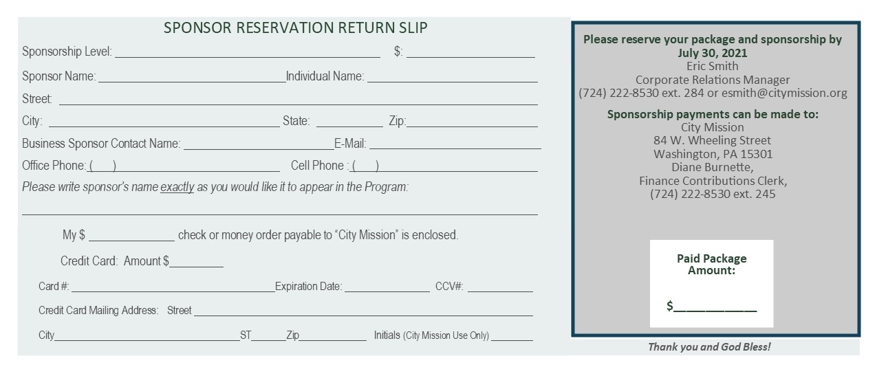 sponsorship reservation graphic
