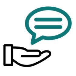 Pictogramme d'une main avec un conseil