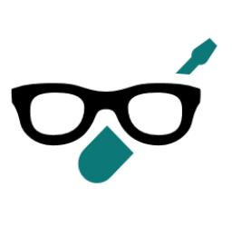 Pictogramme d'une lunettes et d'une tournevis pour réparation