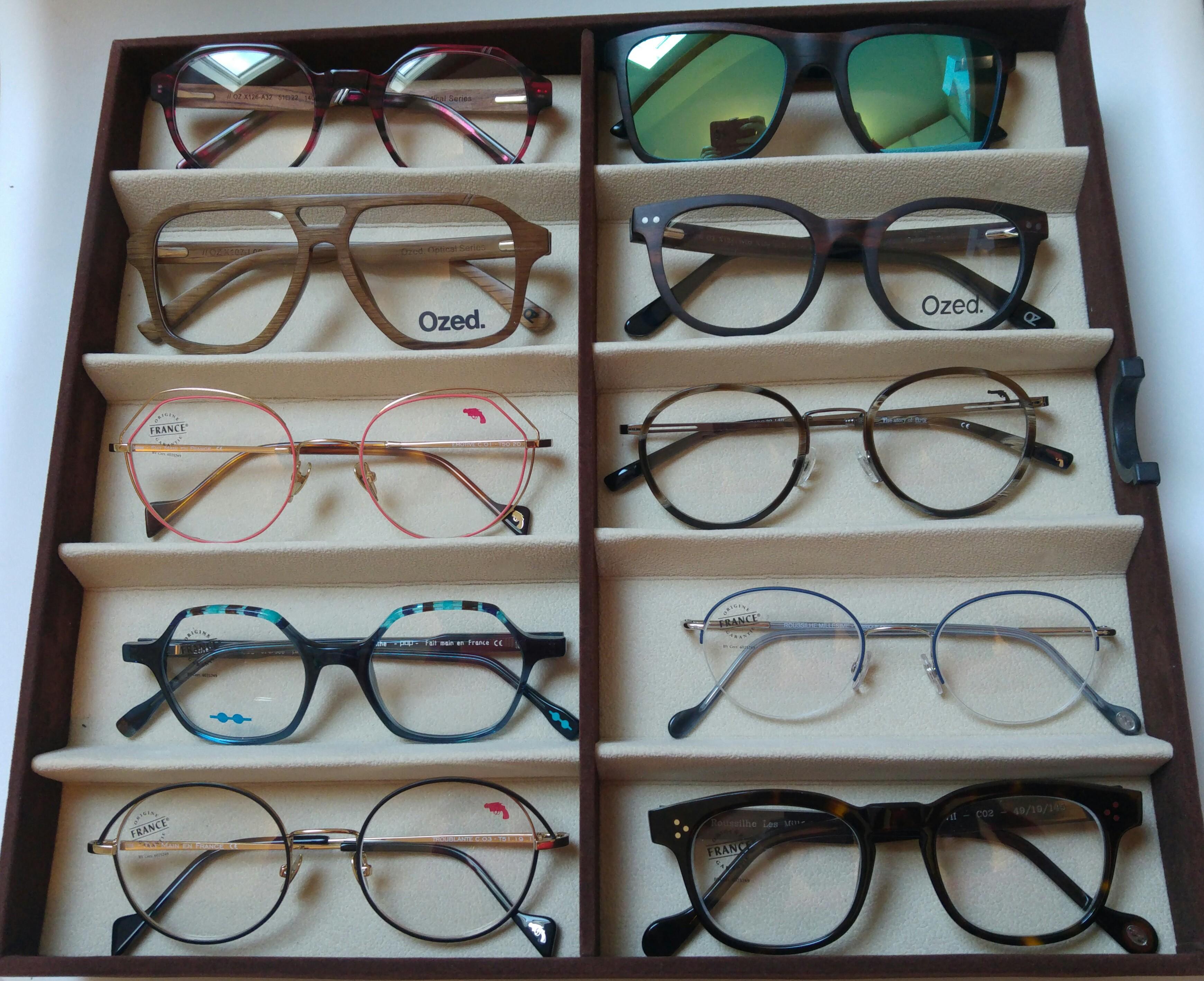 Un grand choix de lunettes de tous types et de qualité